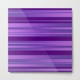 Purple Ombre Stripes Metal Print