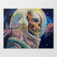 astronaut Canvas Prints featuring Astronaut by Michael Creese