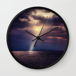 May Gods Light Shine Upon Thee Wall Clock