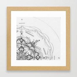 Rain Garden - Study - Meditation Inside a Drop of Rain Framed Art Print