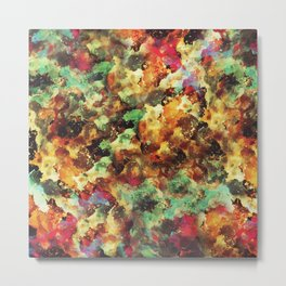 """""""I LOVE YOU script or abstract watercolor art with the same name Metal Print"""