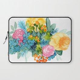 Colorful Watercolor Bouquet Laptop Sleeve