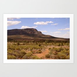 Rawnsley Bluff in the Australian Flinders Ranges Art Print
