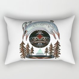 Fleeting Full Moon Rectangular Pillow