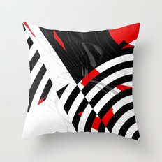 black and white meets red Version 8 Throw Pillow