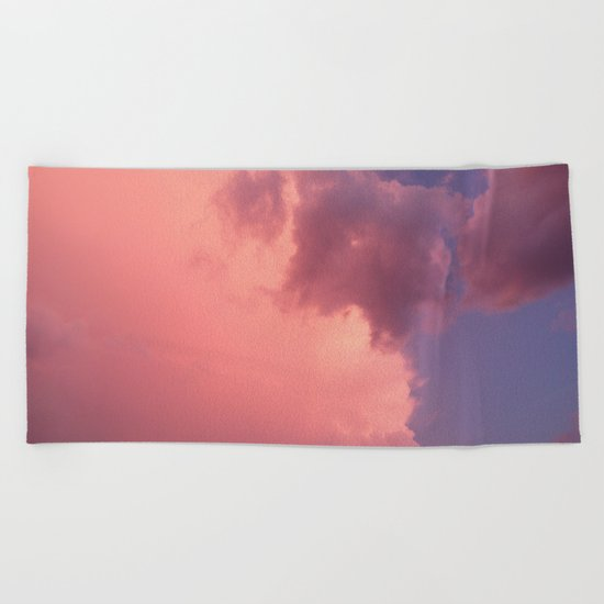 Sunset in Budapest Beach Towel