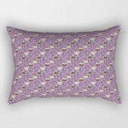 Figgy Plum Pudding Christmas Dessert Purple Repeat Rectangular Pillow