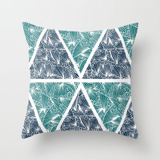 Geometric Paradise Throw Pillow