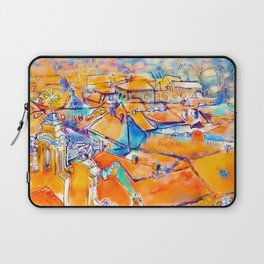 watercolor ink old town city europe rome berlin prague london warsaw lisbon madrid moscow Laptop Sleeve