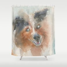 The Heart sees what the eyes can't Shower Curtain