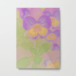 Pansies, The Earth Laughs In Flowers Metal Print