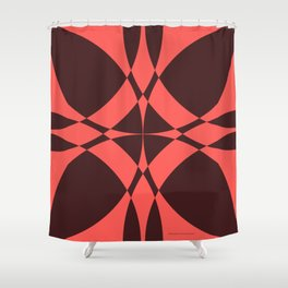 Abstract Circles - Ruby Shower Curtain