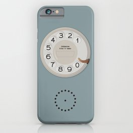 Vintage Dial Phone Blue iPhone Case