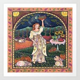 Wine Harvest Maiden Art Print