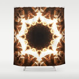 Ring of Fire Fractal Mandala Design Shower Curtain