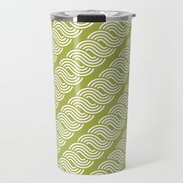 shortwave waves geometric pattern Travel Mug