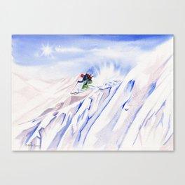 Powder Skiing Canvas Print
