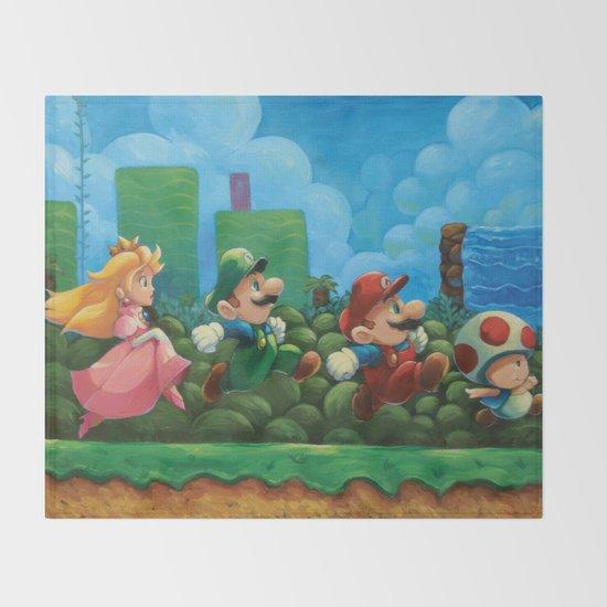 Super Mario Bros 2 Throw Blanket By Joshjdunbar Society6