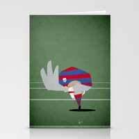 rugby Stationery Cards featuring Rugby by Osvaldo Casanova