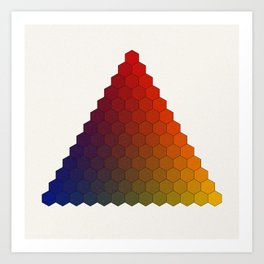 Lichtenberg-Mayer Colour Triangle variation, Remake using Mayers original idea of 12+1 chambers Art Print