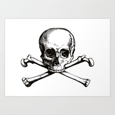 Skull and Crossbones | Jolly Roger Art Print