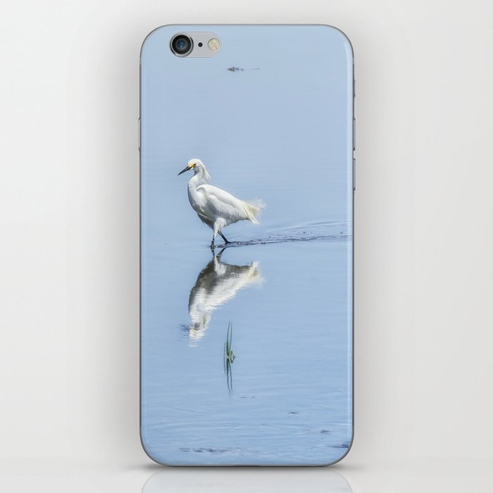 Strutting Snowy Egret from Chincoteague iPhone Skin