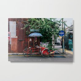 Pedicab Tricycle Metal Print