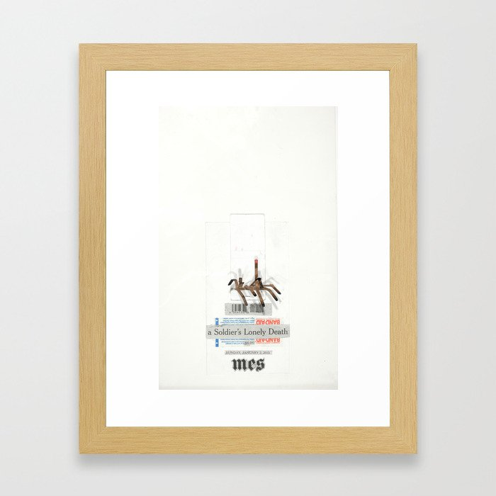 A Soldiers Lonely Death Framed Art Print