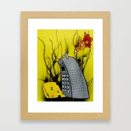 Super Cheese Framed Art Print