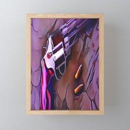 The Wheel Gun Framed Mini Art Print