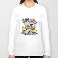 newspaper Long Sleeve T-shirts featuring Newspaper Taxis by Jemma Banks