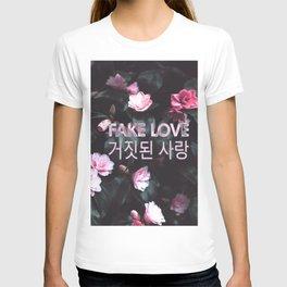 Fake Love Pink Floral T-shirt