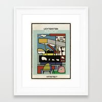 lichtenstein Framed Art Prints featuring lichtenstein+alsop by federico babina