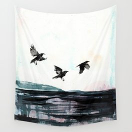 Crows Wall Tapestry