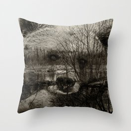 Bear Pond Throw Pillow