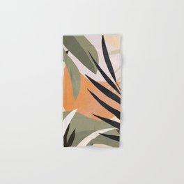 Abstract Art Tropical Leaves 2 Hand & Bath Towel