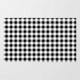 Modern black white picnic 80s print pattern Rug