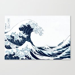 The Great Wave - Halftone Canvas Print