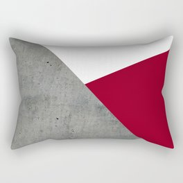 Concrete Burgundy Red White Rectangular Pillow