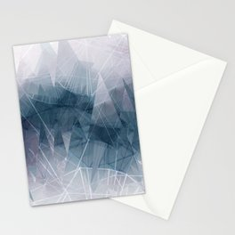 Ameythist Crystal Inspired Modern Abstract Stationery Cards