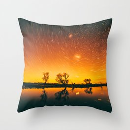 World Spins Madly On Throw Pillow