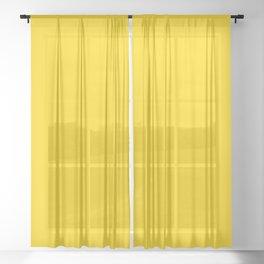 Freesia Yellow Sunshine Pastel Solid Color Block Sheer Curtain