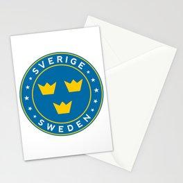 Sweden, Sverige, 3 crowns, circle Stationery Cards