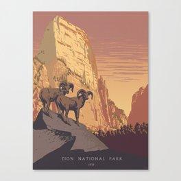 Zion National Park Dawn Canvas Print