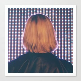 Illuminated Blondie Canvas Print