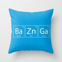 bazinga Throw Pillows featuring Bazinga by Nicolasfl