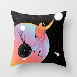 Out of Time (The Current State of Existence) Throw Pillow