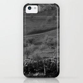 farmhouse b&w iPhone Case