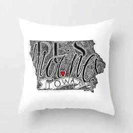 Des Moines Throw Pillow