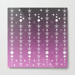 Stars and Night Sky - Purple Gradient Shapes Metal Print